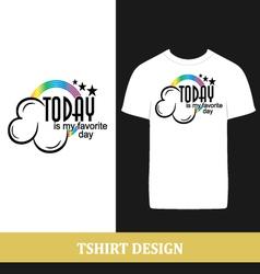 tshirt design vector image vector image