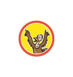 Turkey Runner Victory Circle Cartoon vector image vector image