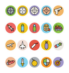 Weapons Icons 2 vector image