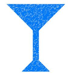 wine glass grunge icon vector image