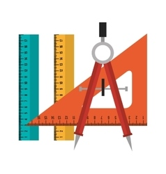 set tool school design isolated vector image