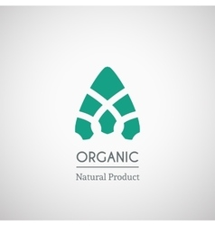 Organic natural product logo vector