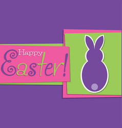 funky easter bunny card in format vector image