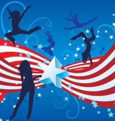 Independence day dance vector