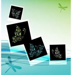 collage design insert your photos vector image