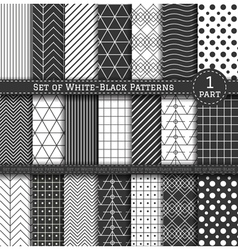 Big set of black white pattern1 vector