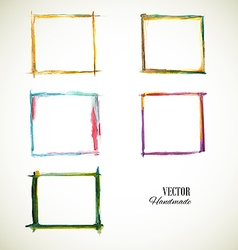 Frame set watercolor vector
