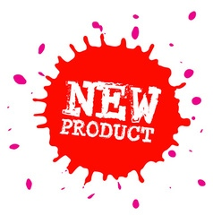 New product splash - blot - splatter stain red vector