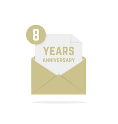 8 years anniversary icon missive in letter vector image vector image