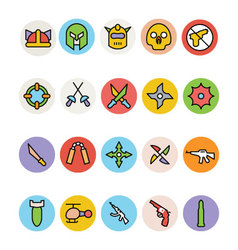 Weapons icons 3 vector