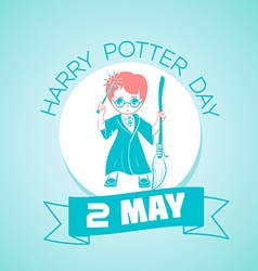 2 may Harry Potter Day vector image