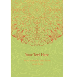 Vintage floral invitation cards vector