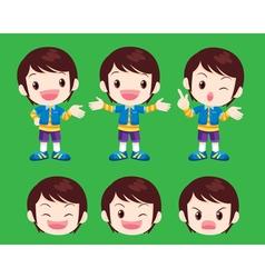 Cute boy actions vector