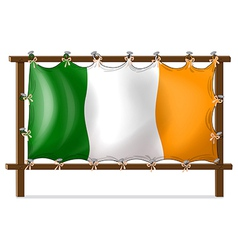 A frame with the flag of ireland vector