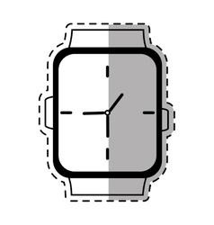 Classic analog watch wearable shadow vector