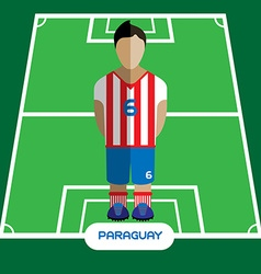Computer game paraguay soccer club player vector