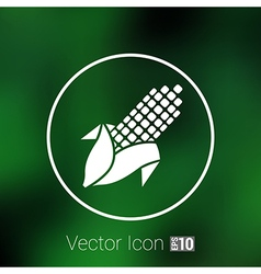 corn logo abstract icon ear unusual isolated vector image