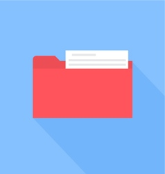 Folder with documents flat design vector image vector image