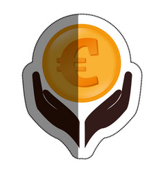 hands human with euro vector image
