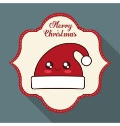 Kawaii hat of christmas season vector