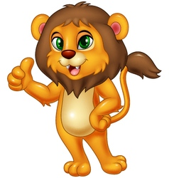 Lion giving thumbs up vector