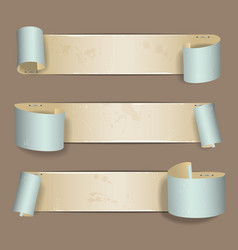 Old torn paper banner vector