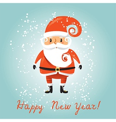 Santa Claus for retro christmas card vector image vector image