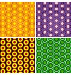 Seamless octagon pattern set vector