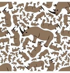 Seamless rhino pattern vector