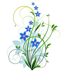 Spring grass with flowers vector image vector image