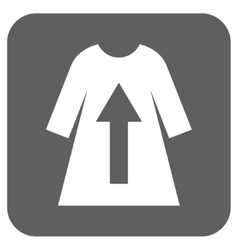 Take off female dress flat squared icon vector