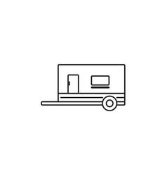 trailer vehicle icon vector image