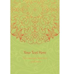 Vintage Floral invitation cards vector image vector image