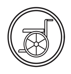 Wheelchair handicap icon symbol vector
