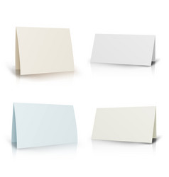 white folder paper greeting card set vector image