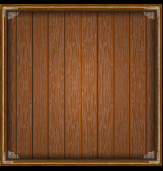 wooden planks frame with white fringing vector image