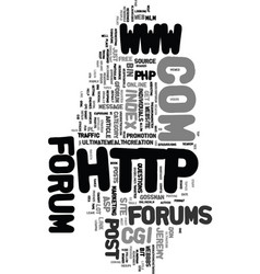 Wy post in online forums text word cloud concept vector