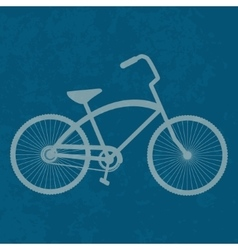 Vintage bicycle retro bike vector