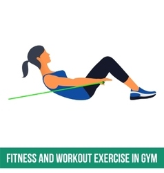 Aerobic icons resistance band vector