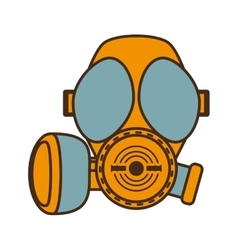 cartoon gas mask respiration protective design vector image