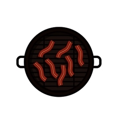 Isolated grill and sausage design vector