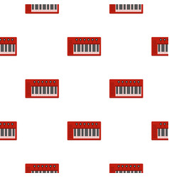 Red synthesizer pattern seamless vector