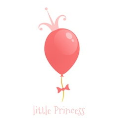 Balloon with a crown background little princess vector