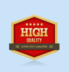 High quality badge vector