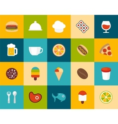 Flat icons set 6 vector