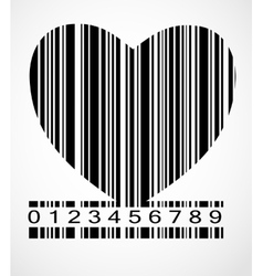 Barcode heart image vector