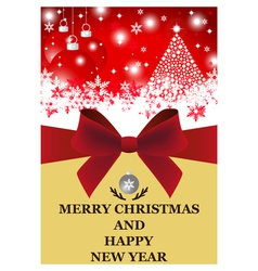 Greeting card for christmas and new year vector