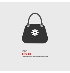 Icon bags vector image