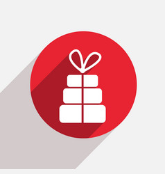 Modern gift red circle icon vector