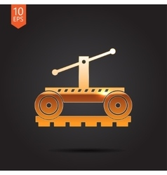Vetor color flat trolley icon epsgold0 vector